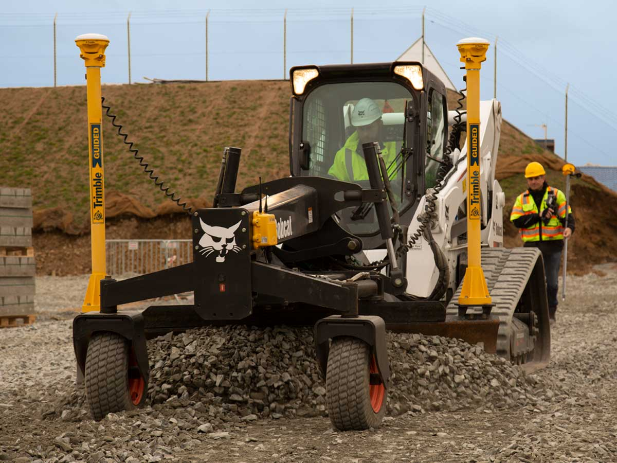 Bobcat skid steer with machine control
