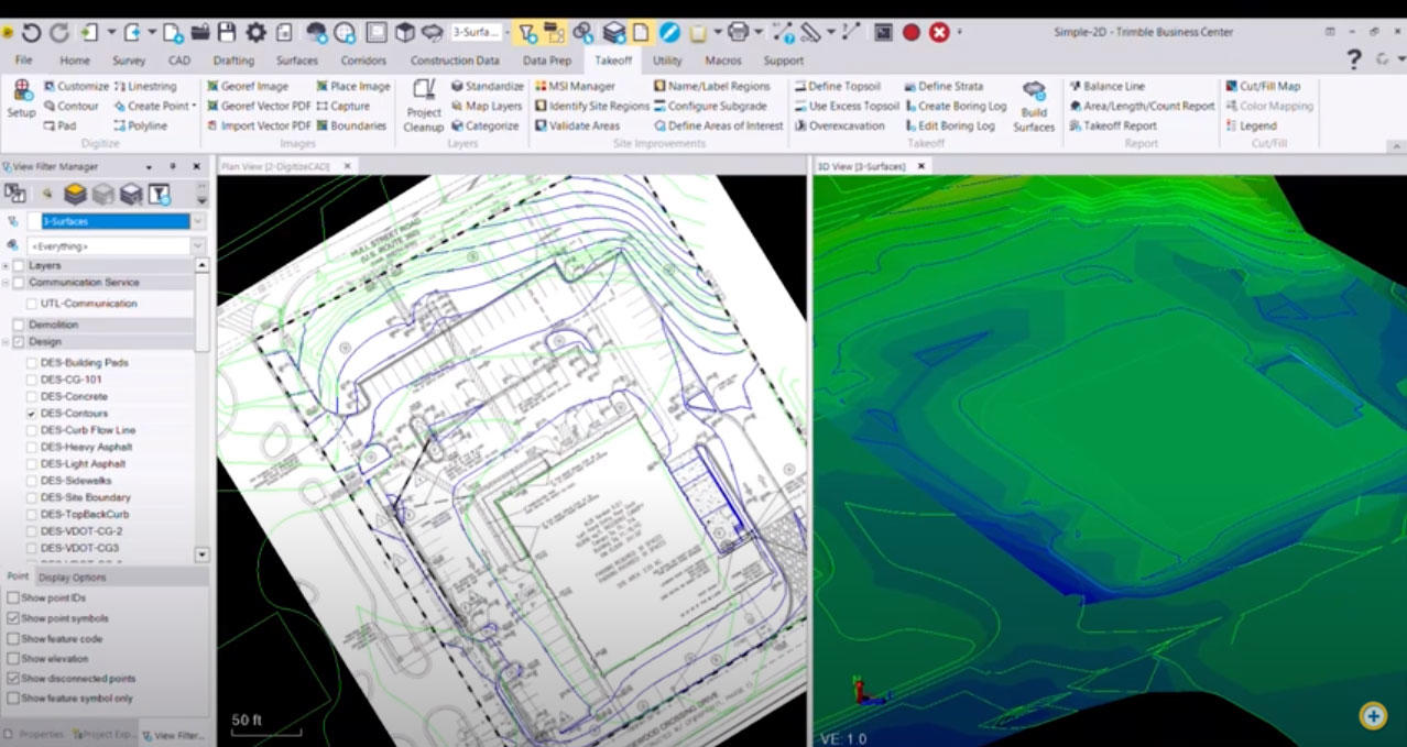 How to do a takeoff or quantity estimate in Trimble Business Center
